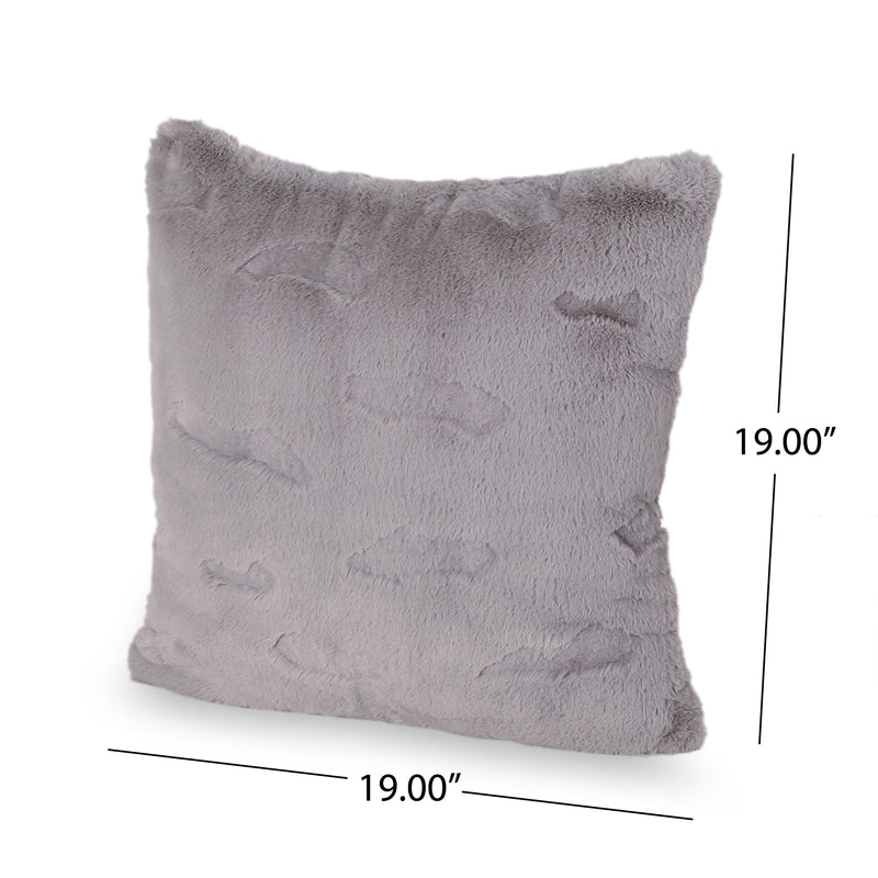 Anita Modern Throw Pillow, Gray