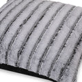 Ashley Modern Throw Pillow Cover, Black and Gray