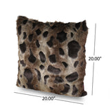 Beata Modern Throw Pillow Cover (Set of 2), Brown and Black