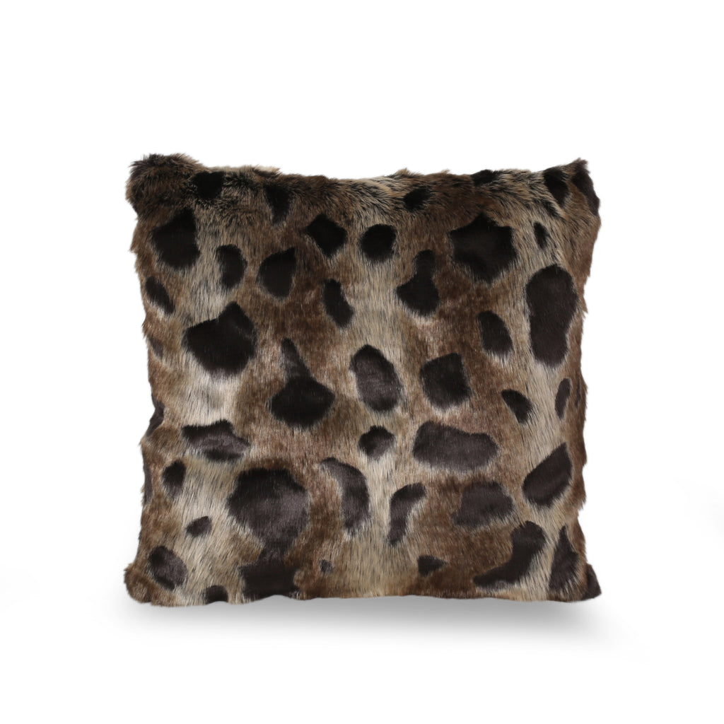 Beata Modern Throw Pillow Cover, Brown and Black