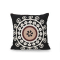 Brenda Modern Throw Pillow, Black, White, and Brown