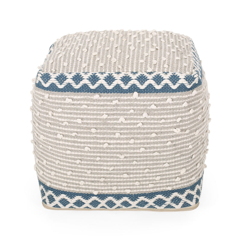 Amiyrah Hand-Crafted Cotton Cube Pouf