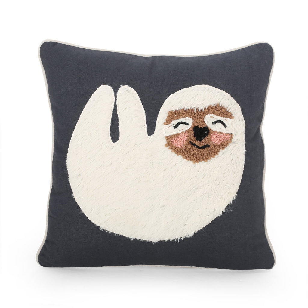 Lumiere Sloth Throw Pillow