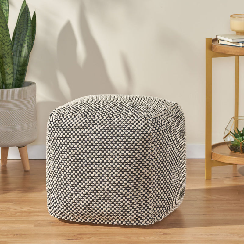 Muhamed Boho Fabric Cube Pouf