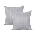 Wendy Modern Square Water Resistant Fabric Pillow (Set of 2), Light Gray