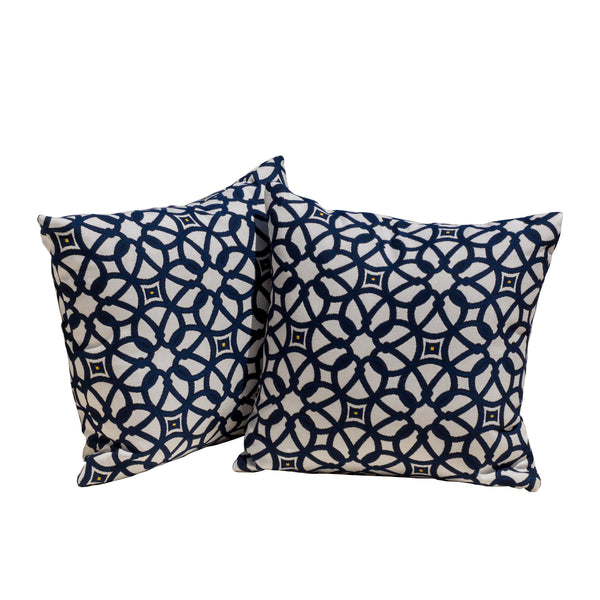 sunbrella Luxe Indigo Throw Pillows - Le Pouf