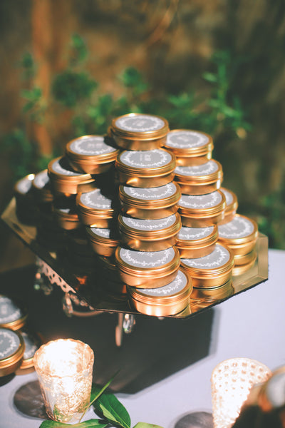 customized candle wedding favors