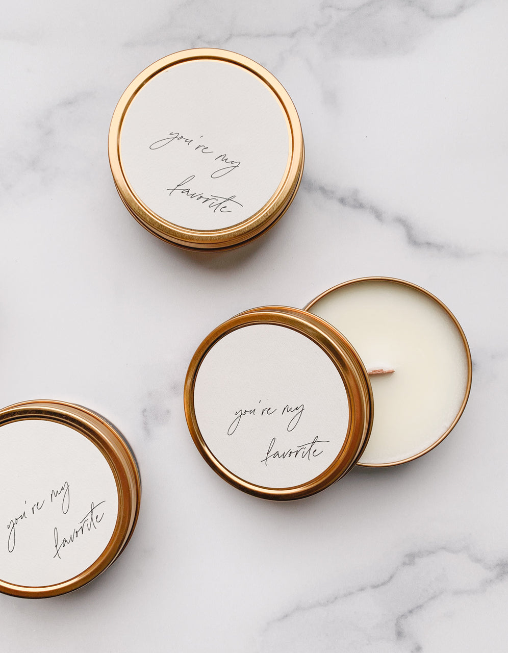 """You're My Favorite"" - Limited Edition Travel Candle"