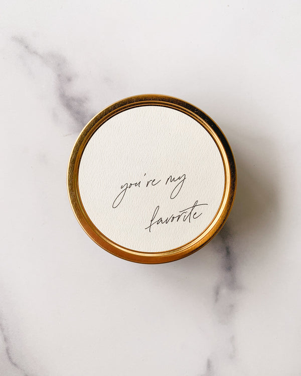 """You're My Favorite"" - Travel Candle"