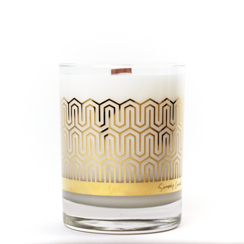 Cucumber Sweetgrass 22k Gold Soy Candle