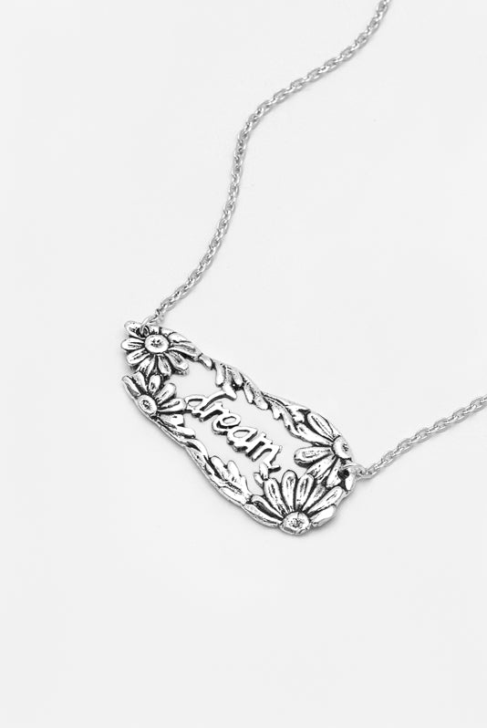 Daisy Dream Inspirational Necklace - Silver Spoon Jewelry