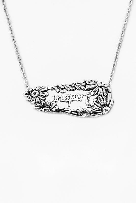 Daisy Inspire Inspirational Necklace - Silver Spoon Jewelry
