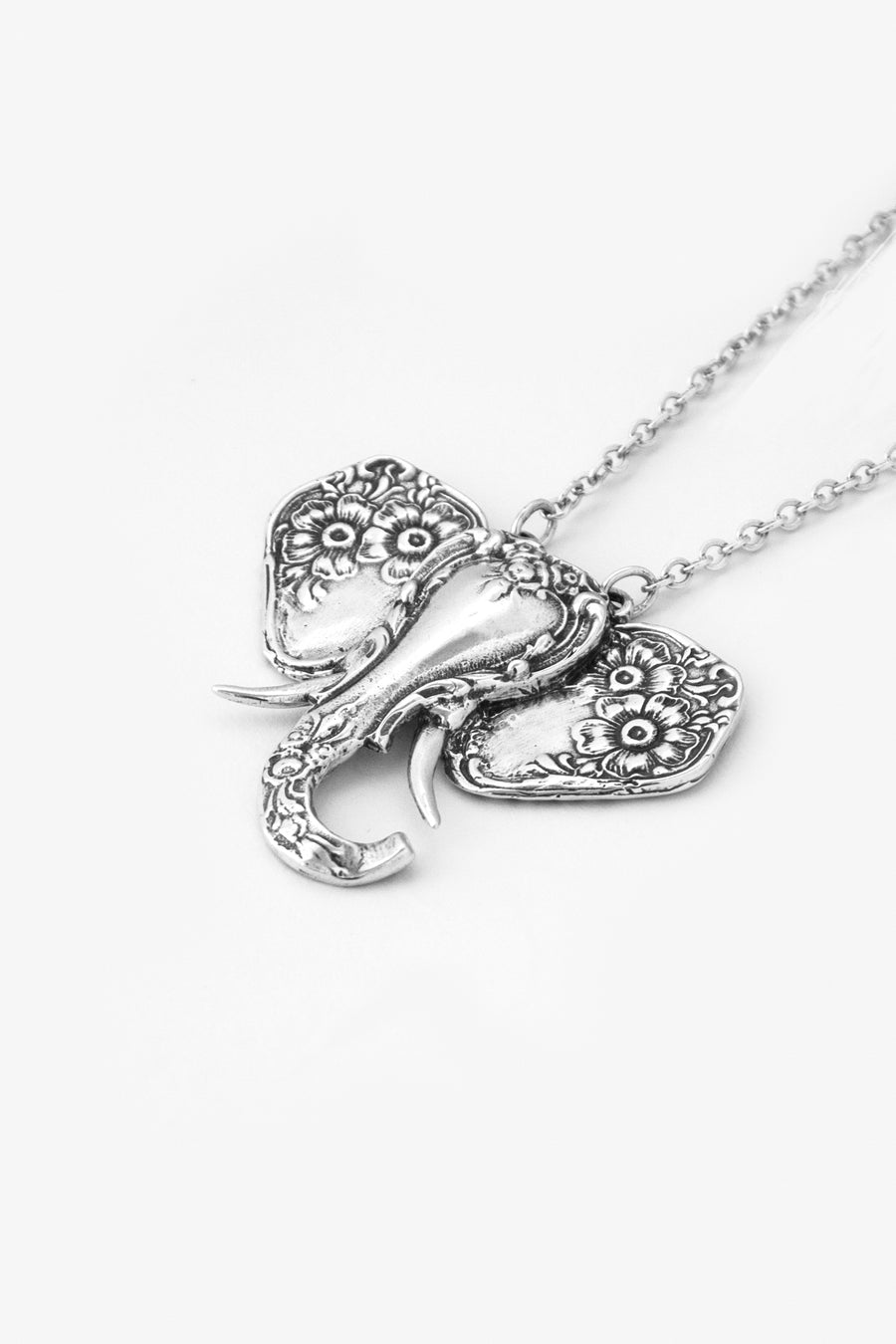 Elephant Sterling Silver Necklace - Silver Spoon Jewelry