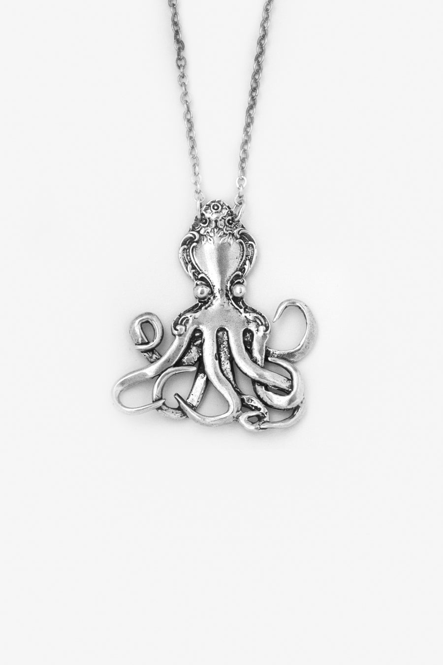 Octopus Sterling Silver Necklace - Silver Spoon Jewelry