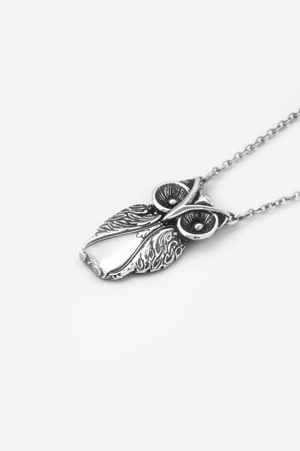 Owl Sterling Silver Necklace - Silver Spoon Jewelry