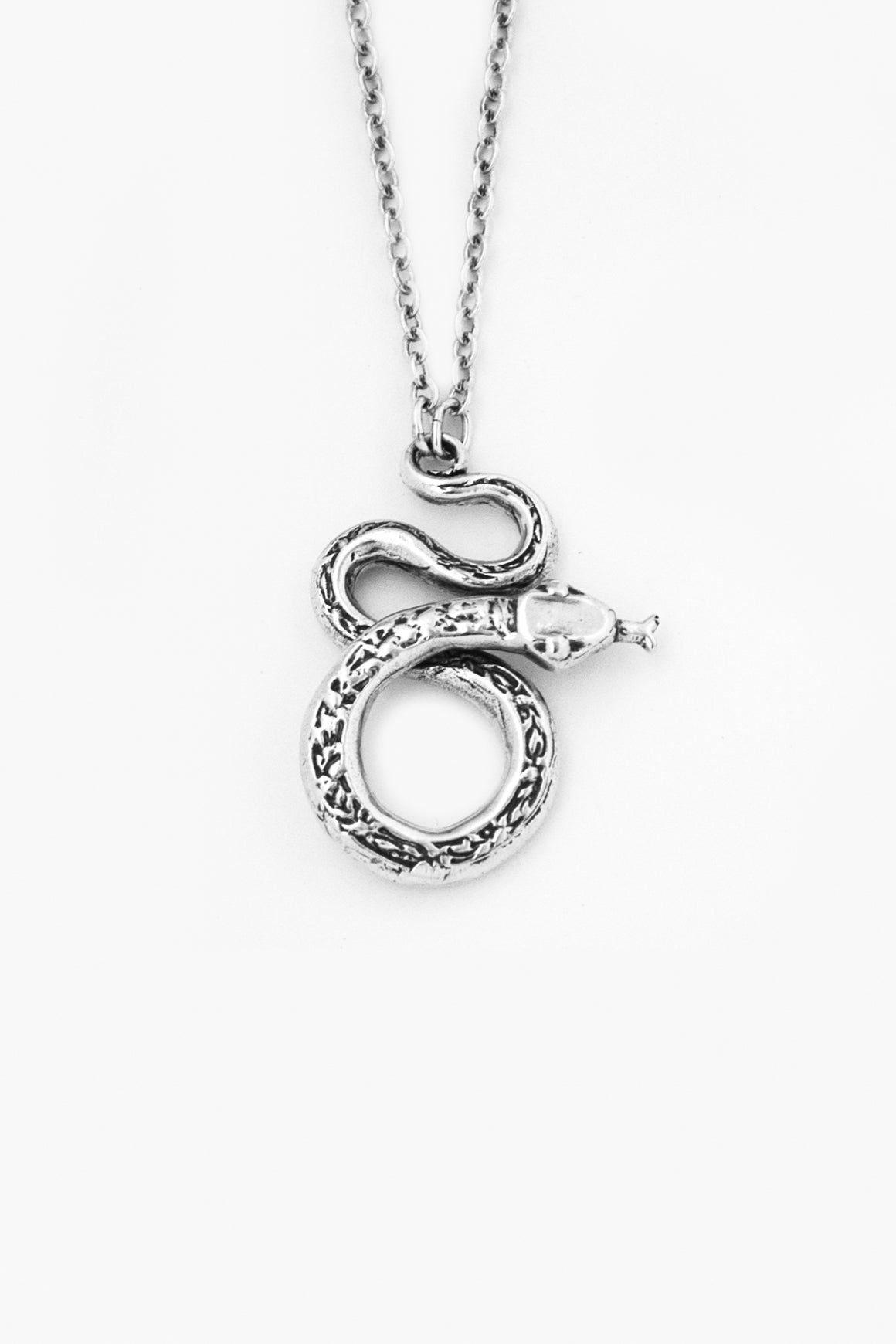 Snake Sterling Silver Necklace - Silver Spoon Jewelry