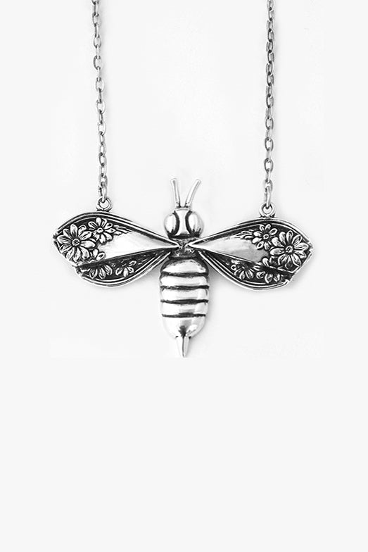 Stella Bee Sterling Silver Necklace - Silver Spoon Jewelry