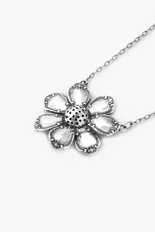Madeline Flower Sterling Silver Necklace - Silver Spoon Jewelry