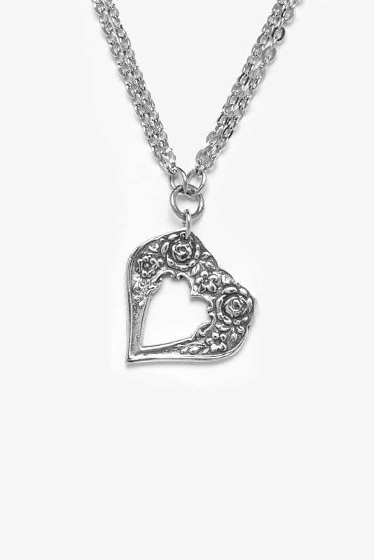 Sophia Heart Necklace - Silver Spoon Jewelry
