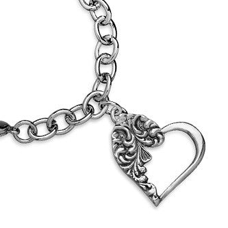 Emma Heart Charm - Silver Spoon Jewelry