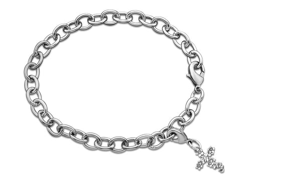 Nora Cross Charm Bracelet - Silver Spoon Jewelry