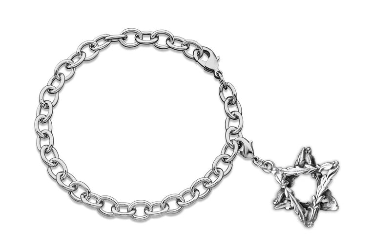 Laureate Star of David Charm Bracelet