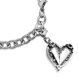 Lila Heart Charm - Silver Spoon Jewelry