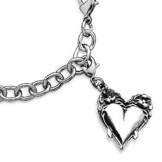 Victoria Heart Charm - Silver Spoon Jewelry