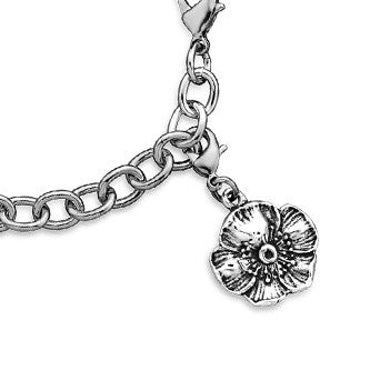 Wild Rose Charm - Silver Spoon Jewelry