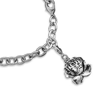 English Rose Charm - Silver Spoon Jewelry