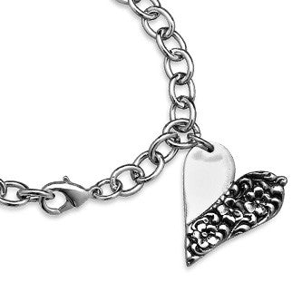 Charlotte Heart Charm - Silver Spoon Jewelry