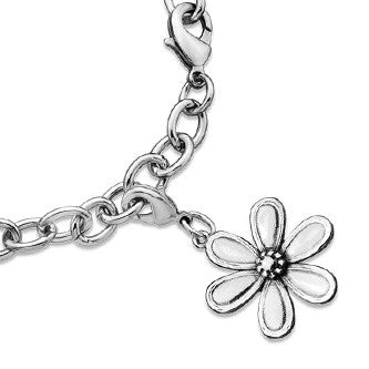 Marquis Flower Charm - Silver Spoon Jewelry