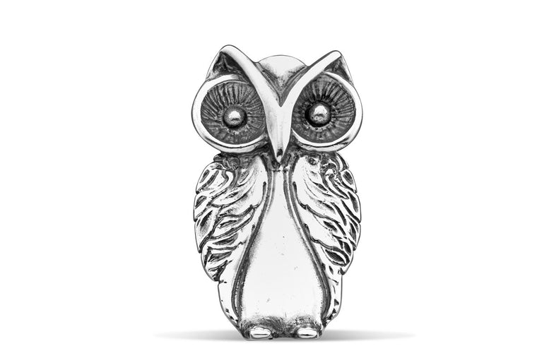 Owl Brooch Pin - Silver Spoon Jewelry