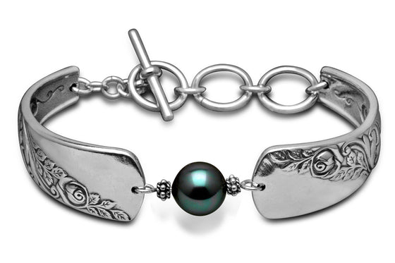 Diana Bracelet with Pearl - Silver Spoon Jewelry
