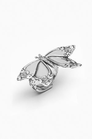 Butterfly Sterling Silver Spoon Ring - Silver Spoon Jewelry