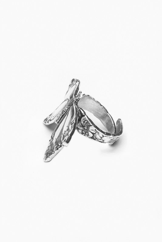 Butterfly Spoon Ring - Silver Spoon Jewelry