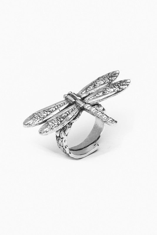 Dragonfly Sterling Silver Spoon Ring - Silver Spoon Jewelry