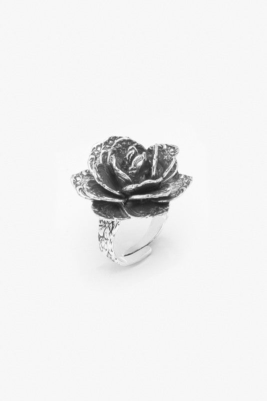 Rose Flower Spoon Ring
