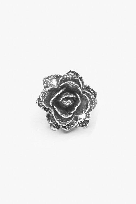 Rose Flower Spoon Ring - Silver Spoon Jewelry