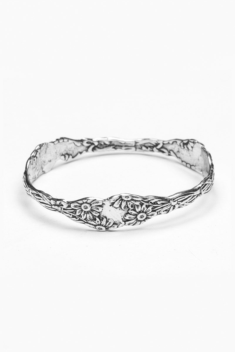 Daisy Bangle Bracelet - Silver Spoon Jewelry
