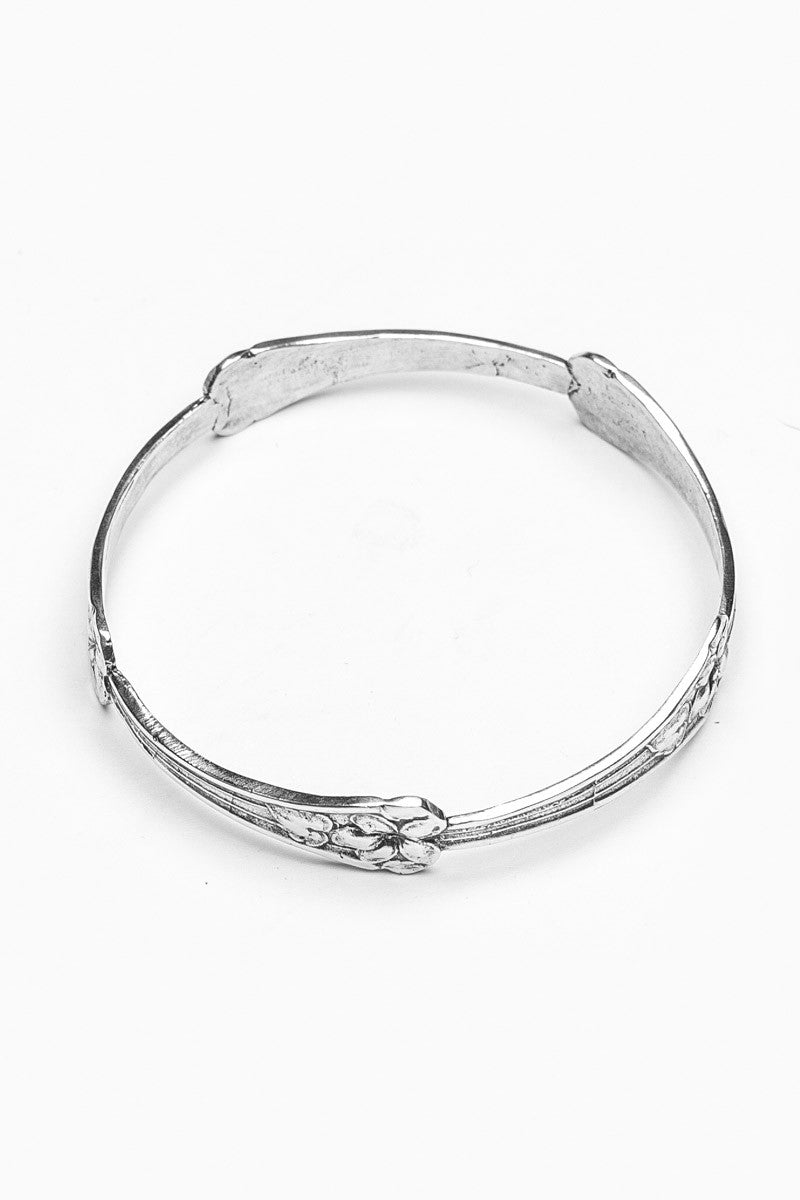 Morning Glory Bangle Bracelet - Silver Spoon Jewelry