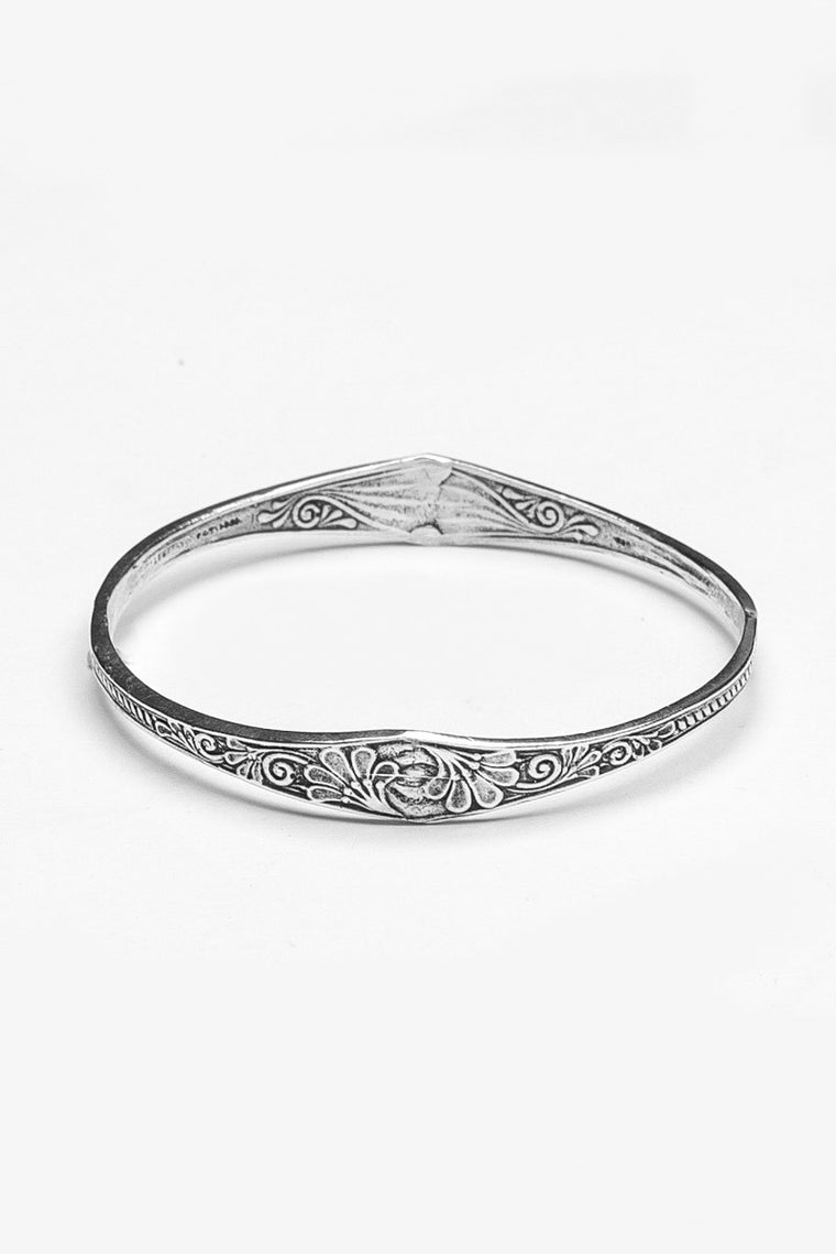 Princess Bangle Bracelet - Silver Spoon Jewelry