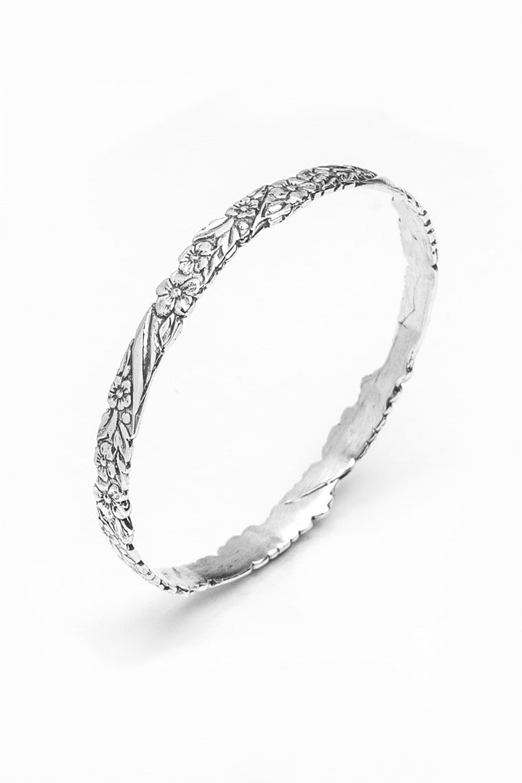 Sarah Bangle Bracelet - Silver Spoon Jewelry