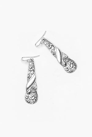 Gloria Sterling Silver Drop Earring - Silver Spoon Jewelry