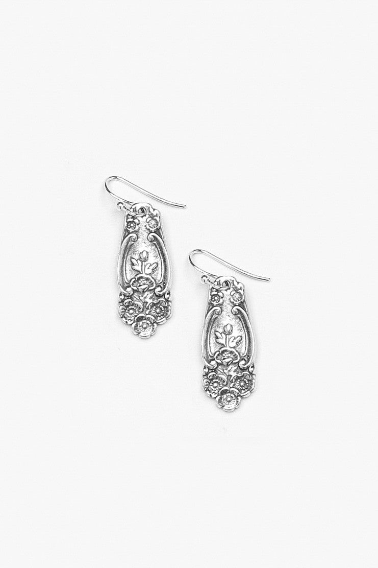Lady Helen Spoon Earrings - Silver Spoon Jewelry