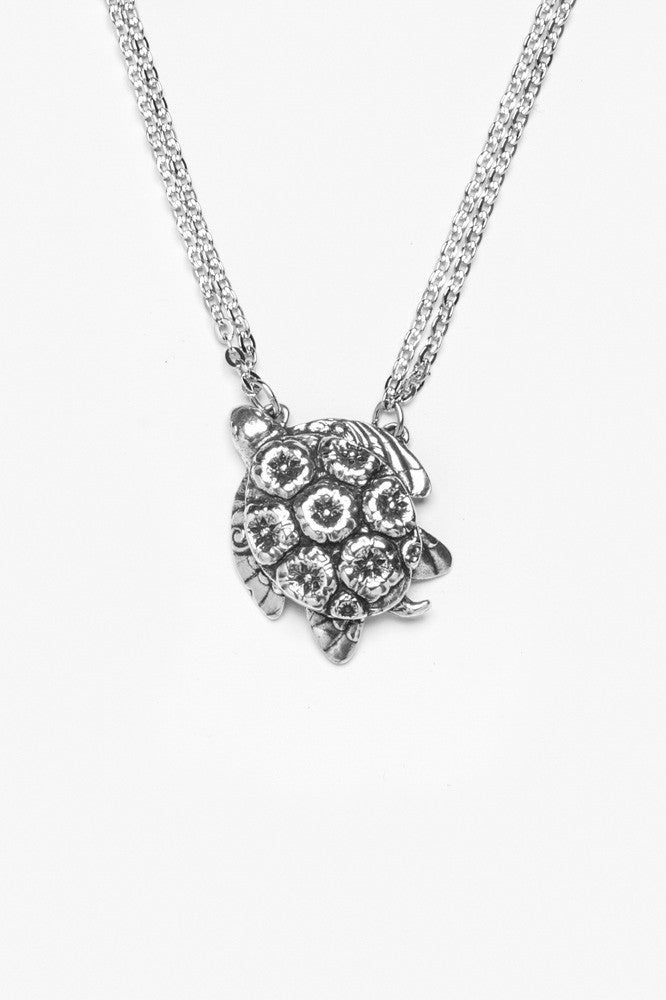 Sea Turtle Necklace - Silver Spoon Jewelry