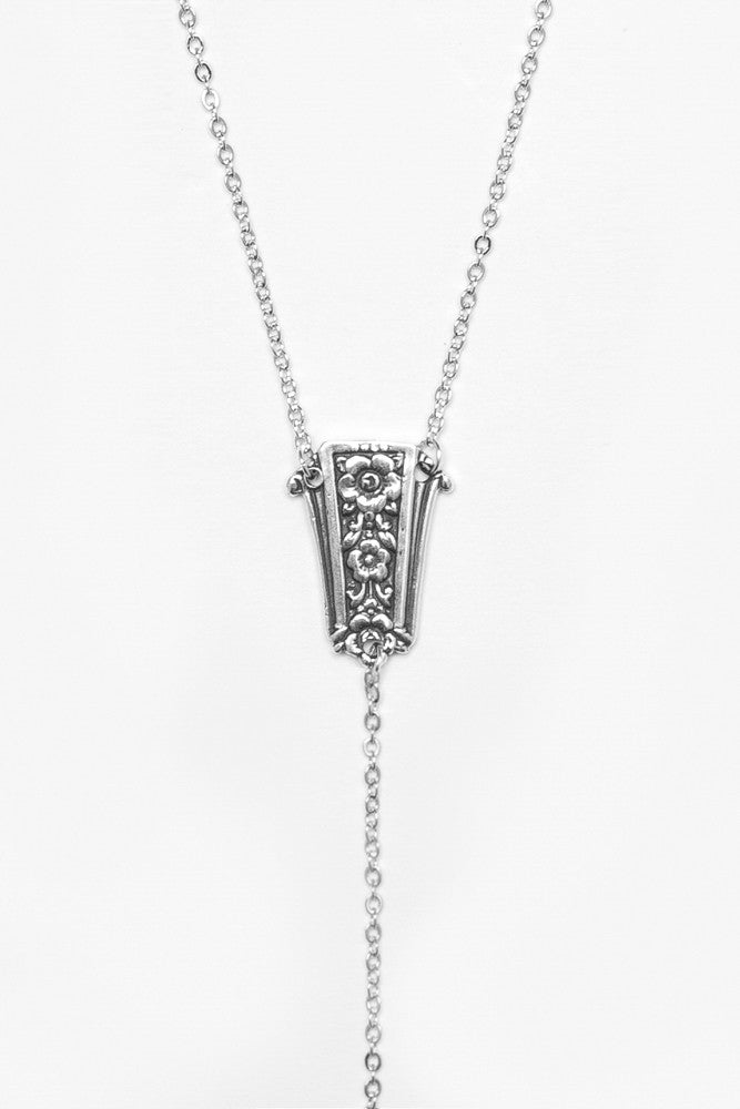 "Amelia ""Y"" Necklace - Silver Spoon Jewelry"