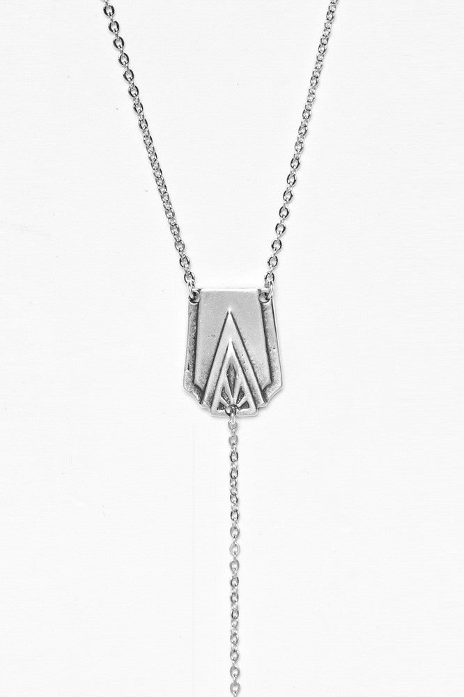 "Art Deco ""Y"" Necklace - Silver Spoon Jewelry"