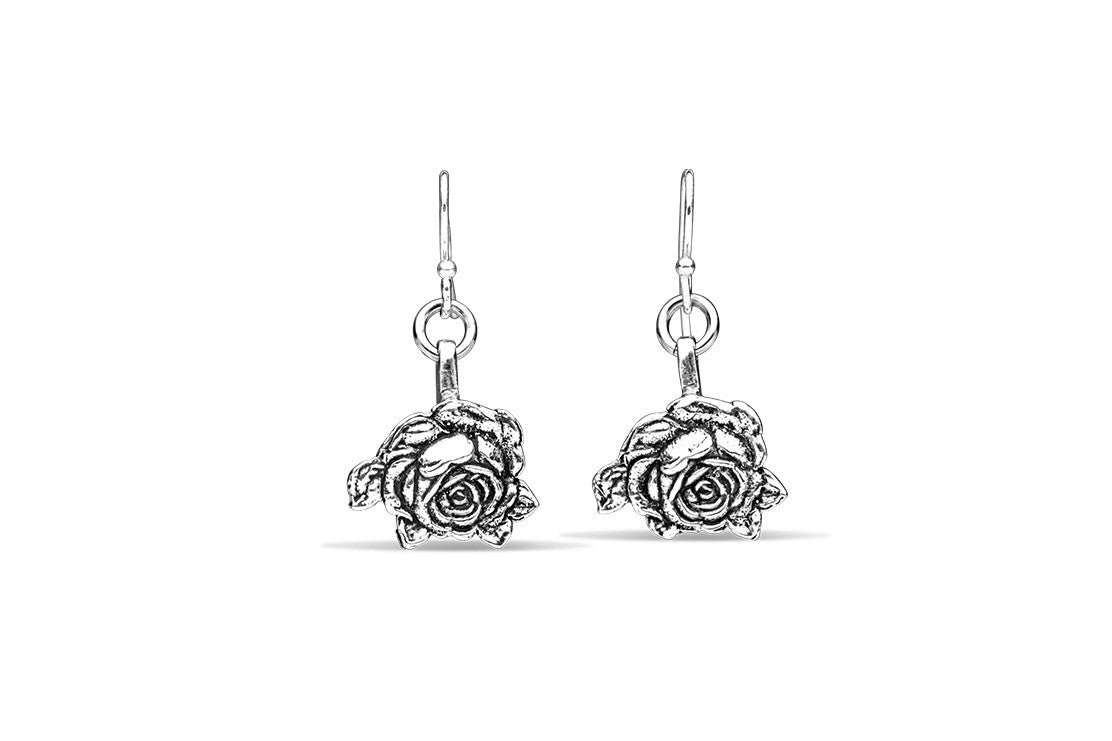 Rose Earrings - Silver Spoon Jewelry