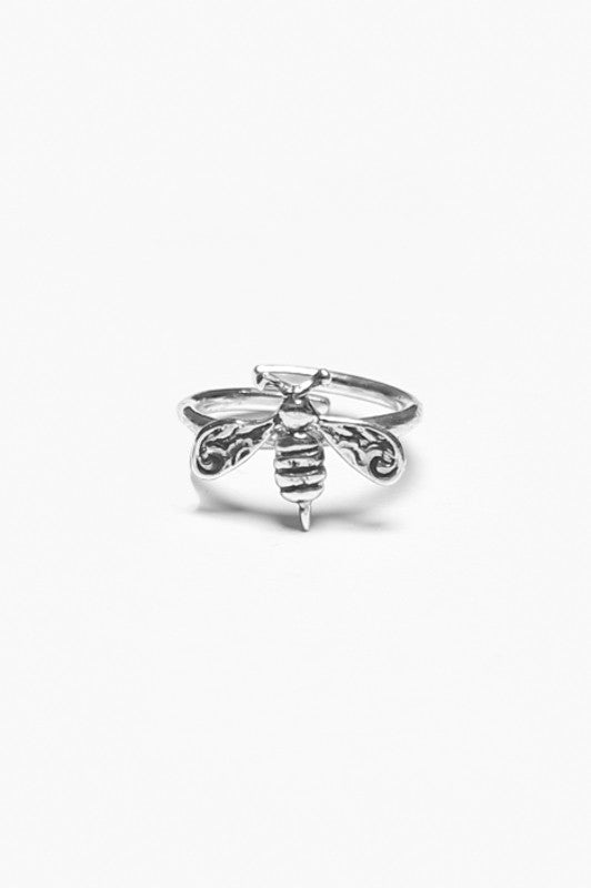 Bee Sterling Ring - Silver Spoon Jewelry